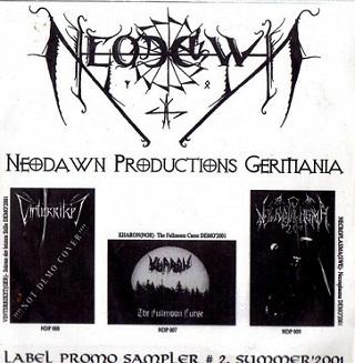Necroplasma / Vinterriket / Kharon - Neodawn Productions Germania - Label Promo Sampler #2, Summer 2001