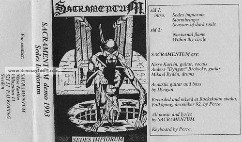 Sacramentum - Sedes Impiorum
