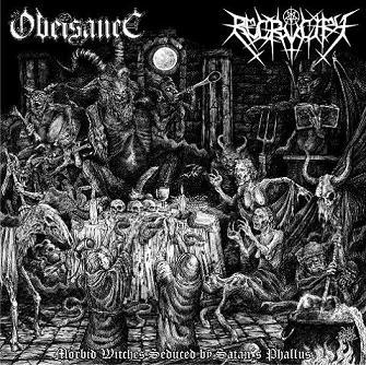 Obeisance / Recrucify - Morbid Witches Seduced by Satan's Phallus