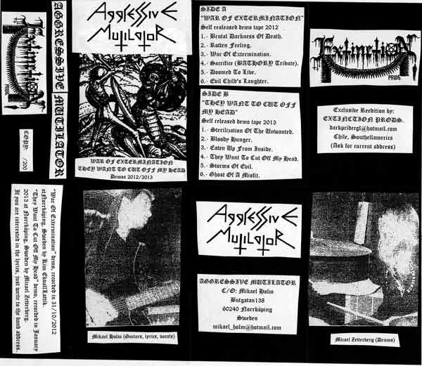 Aggressive Mutilator - Demos 2012/2013