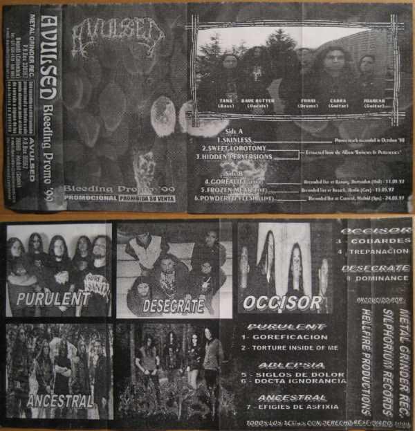 Avulsed / Purulent / Ablepsia / Occisor / Ancestral / Desecrate - Bleeding Promo '99