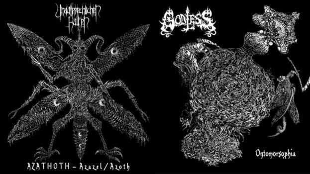 Unaussprechlichen Kulten / Godless - Azathoth - Azazel/Azoth / Ontomorsophia