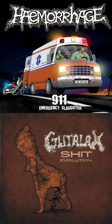 Haemorrhage / Gutalax - 911 (Emergency Slaughter) / Shit Evolution