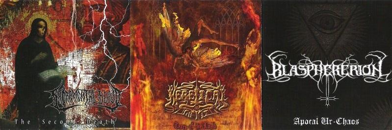 Heretical Guilt / Sacramental Blood / Blasphererion - Triple Death Threat