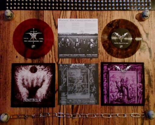 Pentacle / Mortem - Liquefied Blood of the Saints / Five Candles Burning Red