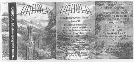 Unhola - Mustan syvyyden tuulet...
