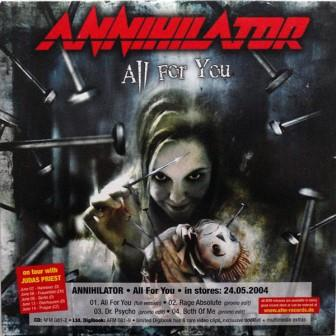 Annihilator / Perzonal War / Jorn - All for You / Faces / Out to Every Nation