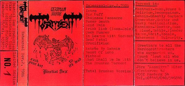 Torment - Rehearsal Nov. 2, 1986