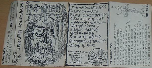 Imminent Demise - No Identity
