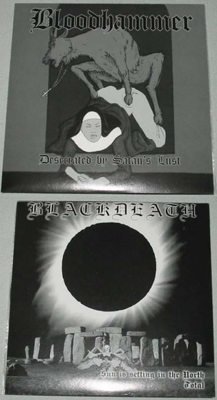 Blackdeath / Bloodhammer - Desecrated by Satan's Lust / Sun Is Setting in the North - Total