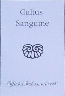 Cultus Sanguine - Official Rehearsal 1994