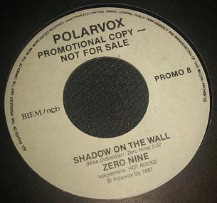 Zero Nine - Shadow on the Wall / Roadrunner