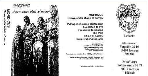 Mordicus - Grown Under Shade of Sorrow
