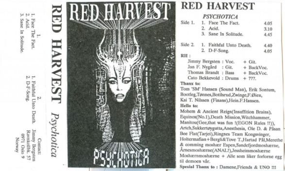 Red Harvest - Psychotica