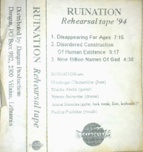 Ruination - Rehearsal Tape '94