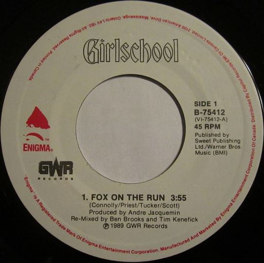 Girlschool - Fox on the Run / Tear It Up