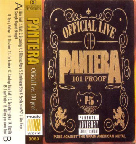 pantera official live 101 proof encyclopaedia