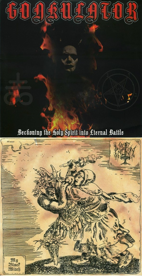 Old Pagan / Gonkulator - Beckoning the Holy Spirit into Eternal Battle / My Black Witch