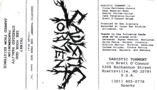 Sadistic Torment - See Your God