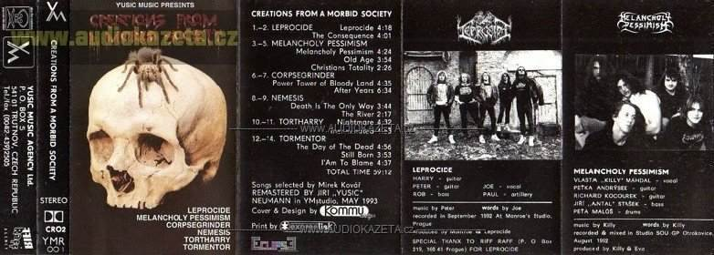 Melancholy Pessimism / Tortharry / Nemesis / Leprocide / Tormentor / Corpsegrinder - Creations from a Morbid Society