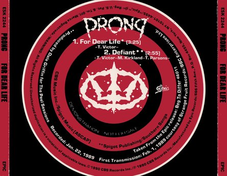 Prong - For Dear Life