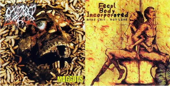 Oxidised Razor / Fecal Body Incorporated - Maggots / Make Shit Not Love