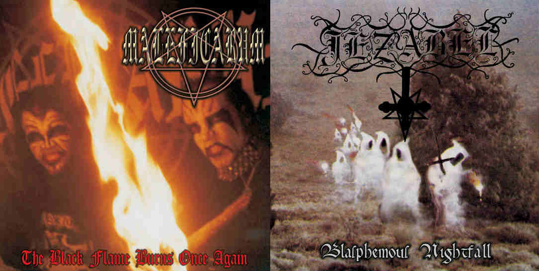 Maleficarum / Jezabel - The Black Flame Burns Once Again / Blasphemous Nightfall