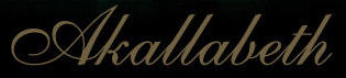 Akallabeth - Logo