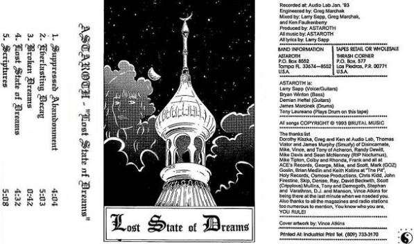 Astaroth - Lost State of Dreams