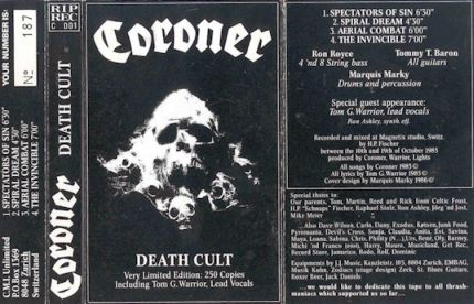 Coroner - Death Cult