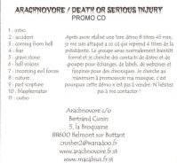 Arachnovore - Death or Serious Injury