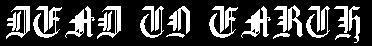 Dead to Earth - Logo