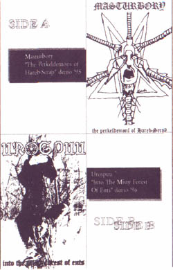 Masturbory / Urospuu - The Perkeldemons Of Hareb-Serap / Into The Misty Forest Of Ents