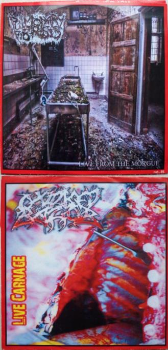 Oxidised Razor / Pulmonary Fibrosis - Live from the Morgue / Live Carnage