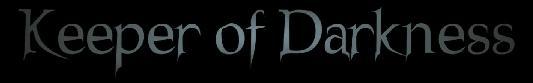 Keeper of Darkness - Logo