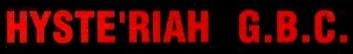 Hyste'riah G.B.C. - Logo