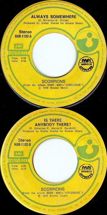 Scorpions - Always Somewhere / Is There Anybody There?