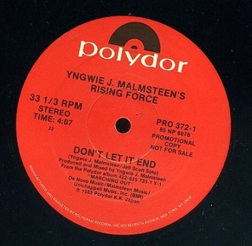 Yngwie J. Malmsteen - I'll See The Light Tonight / Don't Let It End