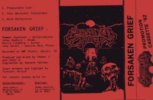 Forsaken Grief - Promo '92