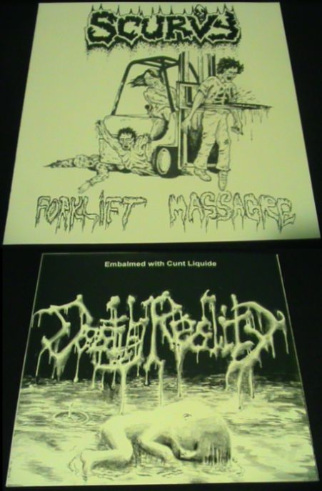Death Reality / Scurvy - Forklift Massacre / Embalmed with Cunt Liquide