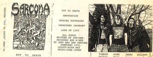 Sarcoma - Put to Death