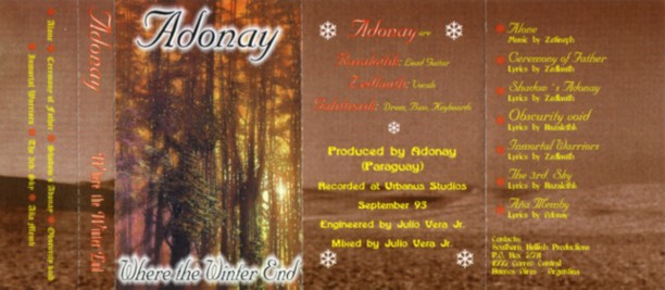 Adonay - Where the Winter End