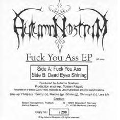 Autumn Nostrum - Fuck You Ass