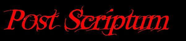 Post Scriptum - Logo