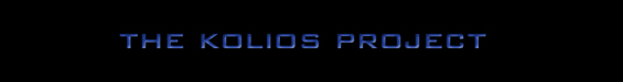 The Kolios Project - Logo