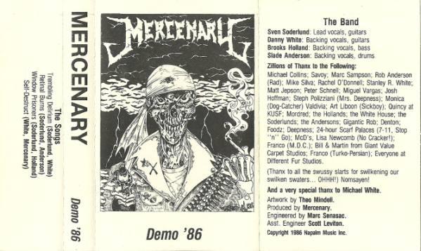Mercenary - Demo '86