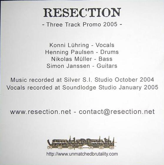 Resection - Three Track Promo 2005