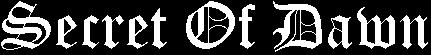Secret of Dawn - Logo