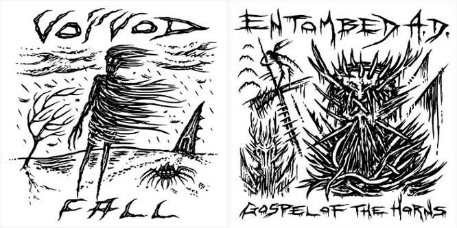 Voivod / Entombed A.D. - Fall / Gospel of the Horns