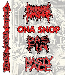 Nasty Face / Chronic Waste - Tempestuous Grinding Insolence